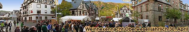 Weinhexennacht Oberwesel am Rhein auf dem Marktplatz